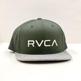 RVCA RVCA TWILL SNAP CAP OLIVE GRAY