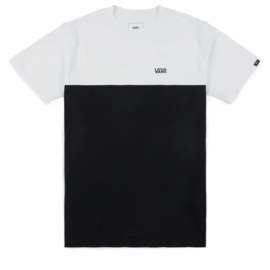 Vans COLORBLOCK TEE BLAKC AND WHITE VANS TEE