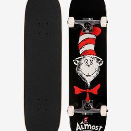 Almost Almost Cat Face FP. Black Complete Skateboard 7.875
