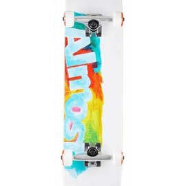 Almost Almost Paint Smudge FP. White Complete Skateboard 7.5