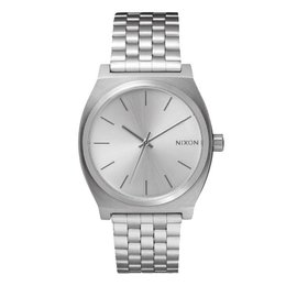 NIXON TIME TELLER ALL SILVER WATCH