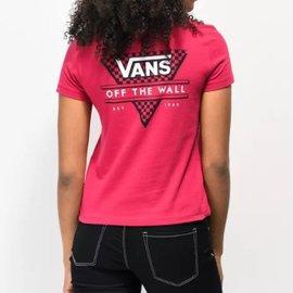 Vans Vans Women T-Shirt Tri Check Cerise