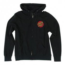 Classic Dot Zip Hooded Hooded Zip Santa Cruz Mens Sweatshirt