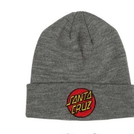 Santa Cruz Classic Dot Long Shoreman Beanie - Light Heather Grey
