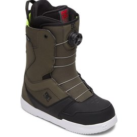 DC SCOUT BOA SNOWBOARD BOOTS FOR MEN GREEN