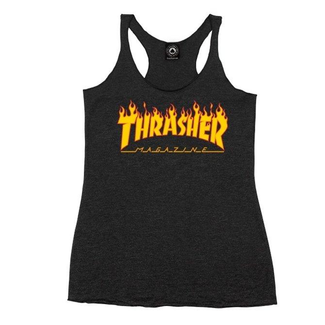 Thrasher GIRL-FLAME LOGO RACERBACK (311302)