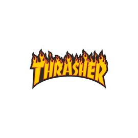 Thrasher THRASHER STICKER-FLAME LOGO MEDIUM