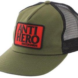 Anti Hero Skateboards Anti Hero Reserve Patch Snapback Trucker Hat - Olive/ Black