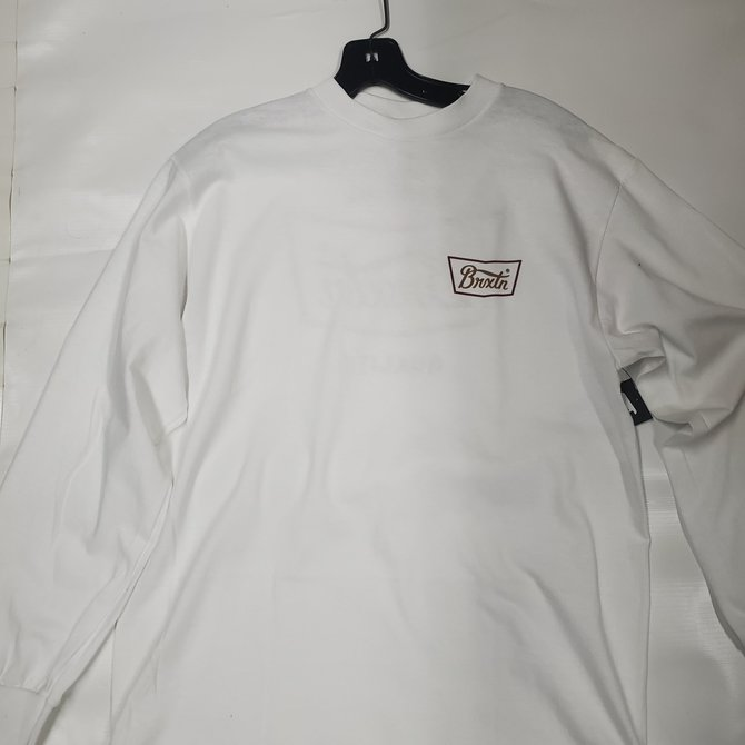 Brixton White Long Sleeve Stith VII Tee