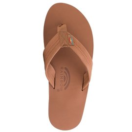 Rainbow Sandals Tan Brown Classic Leather Single Layer