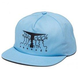 Krooked Skateboarding KR ADJ FACES SNAPBACK BLUE/BLACK
