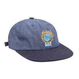 HUF Huf Global Warming 6 Panel Hat Blue Chambray