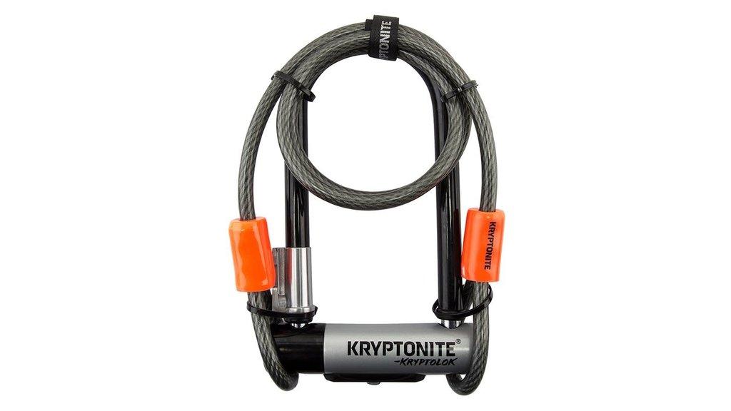 KRYPTONITE LOCK CADENAS KRYPTONYTE KRYPTOLOK MINI7 13MM +CABLE 4PI NOIR/GRIS