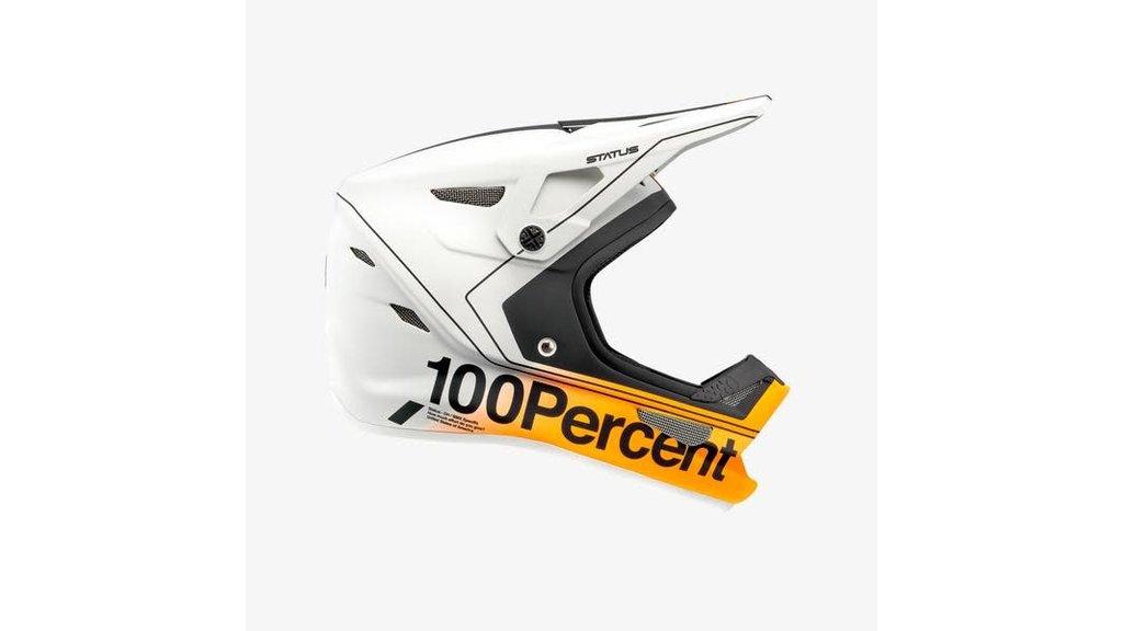 100% CASQUE 100% STATUS DH/BMX BLANC/ORANGE/GRIS PETIT