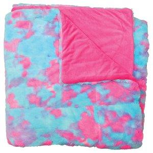 Sherbet Tie Dye Furry Comforter