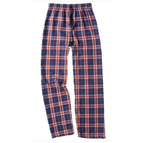 Orange and Navy Flannel Pants
