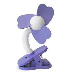 Purple and White Clip-Fan