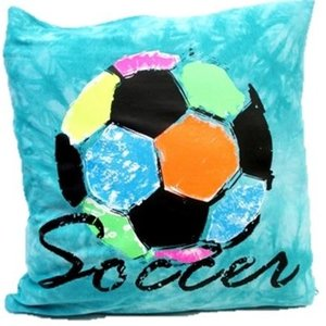 Rainbow Soccer Autograph Pillow