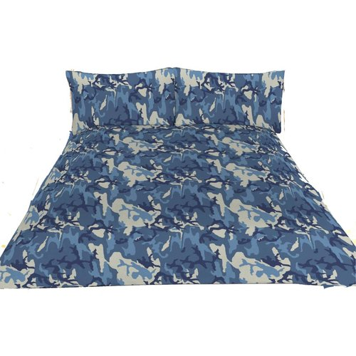 Blue Camo Jersey Sheets