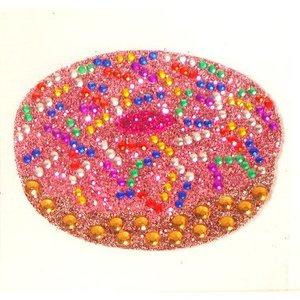 Pink Donut StickerBean