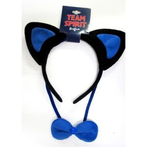 Cat Ears Headband with Bow Tie