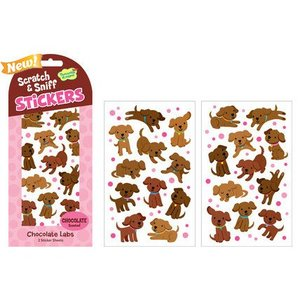 Chocolate Labs Smelly Stickers