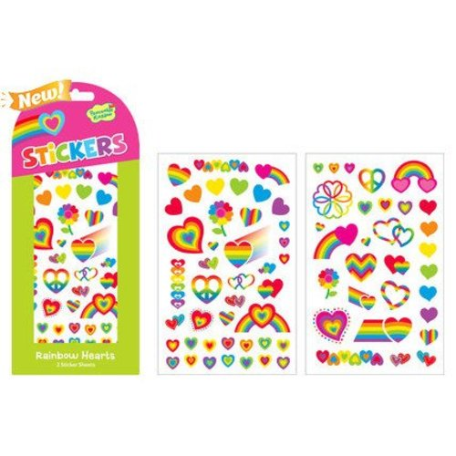 Rainbow Hearts Stickers