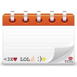 TTYL Text Emoji Notecards