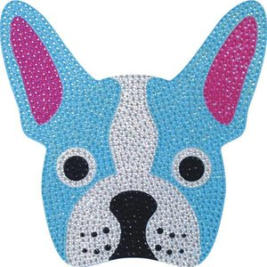 French Bull Dog Rhinestone Decal