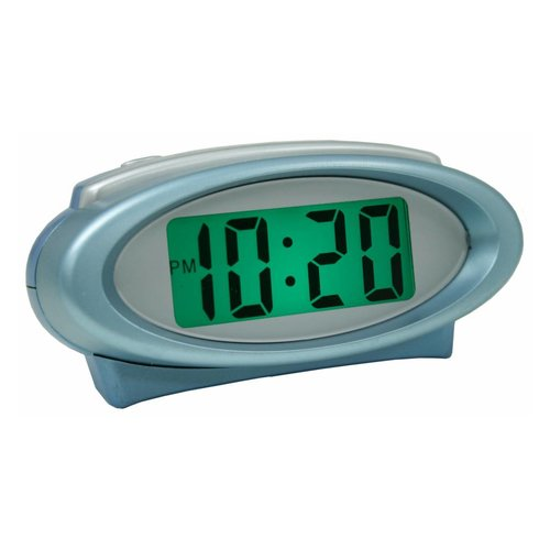 LCD Oval Digital Clock