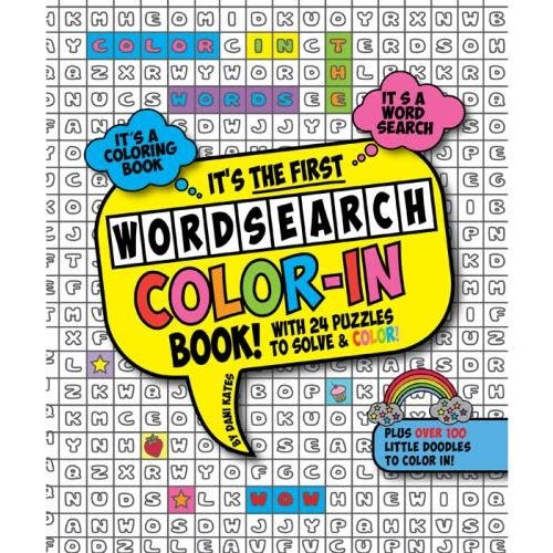 Word Search Color-in Book