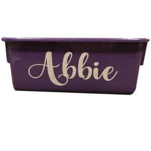 Glittery Name Storage Tub