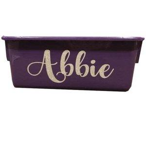 Glittery Name Storage Tub