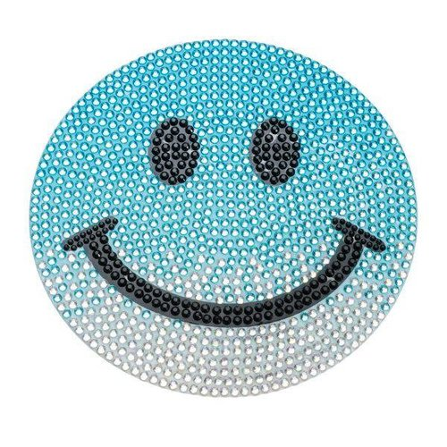 Medium Blue Ombre Smiley StickerBean
