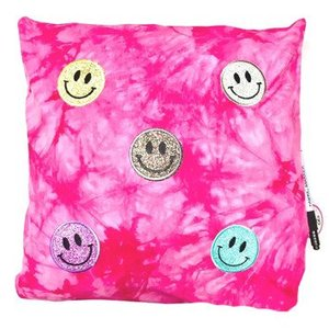 Smiley Patches Autograph Pillow