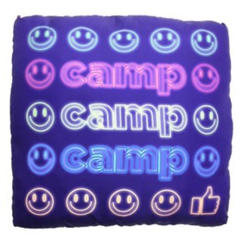 Neon Camp Pillow