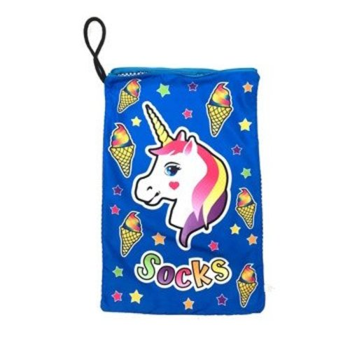 Unicorn and Cones Mesh Sock Bag