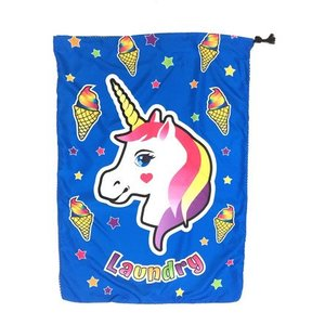 Unicorn and Cones Mesh Laundry Bag