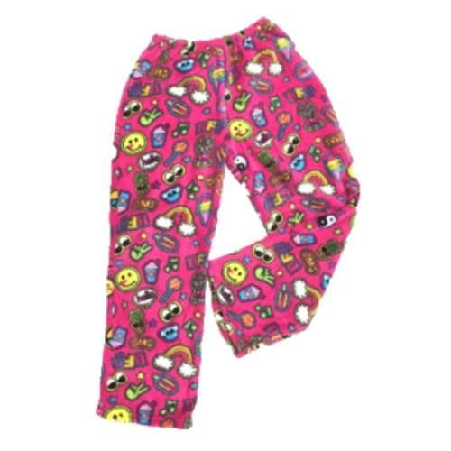 Pink Patches Fuzzy Pants