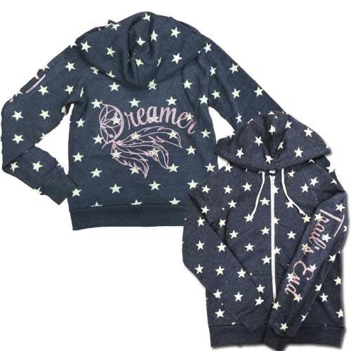 Dream On Blue Stars Zip Up