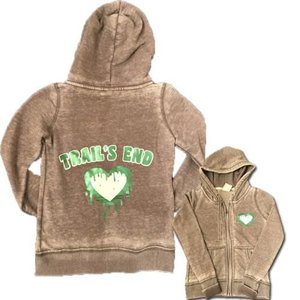 Dripping Heart Cozy Zip Up