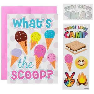 What's The Scoop Camp Card