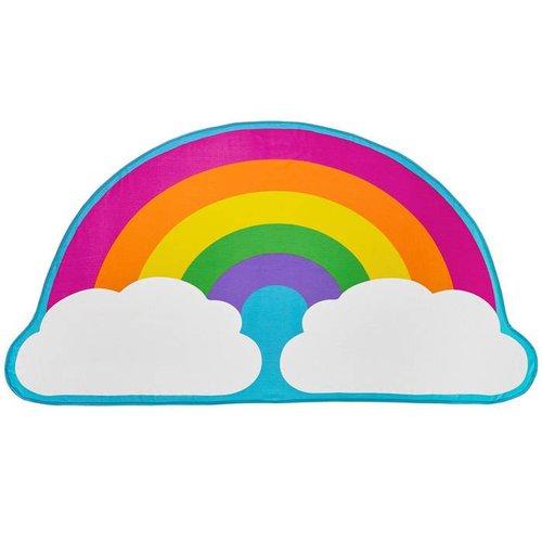 Rainbow & Clouds Beach Blanket