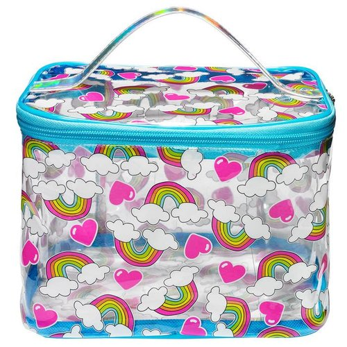 Rainbow & Hearts Train Case