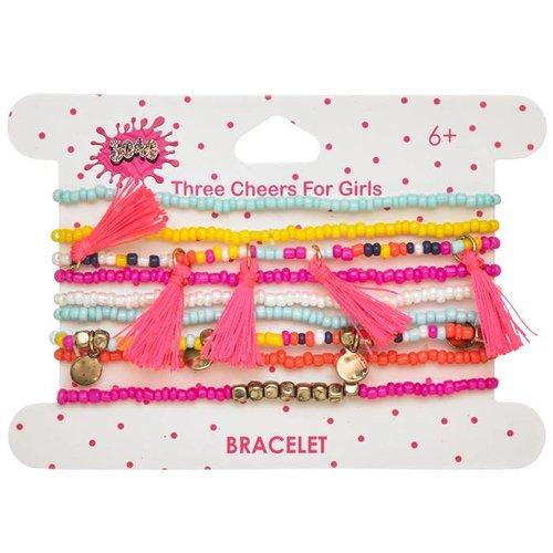 Tassled Beaded Bracelet Set