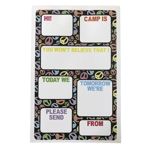 Peace Signs Fill-In Notepad