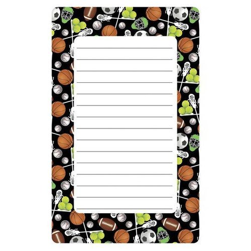 Assorted Sports Lined Notepad