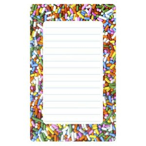 Sprinkles Lined Notepad
