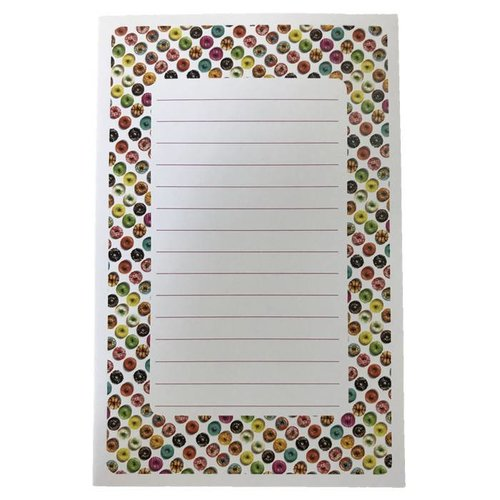 Donuts Lined Notepad