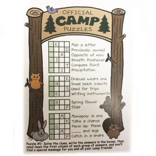 Official Camp Puzzles Card